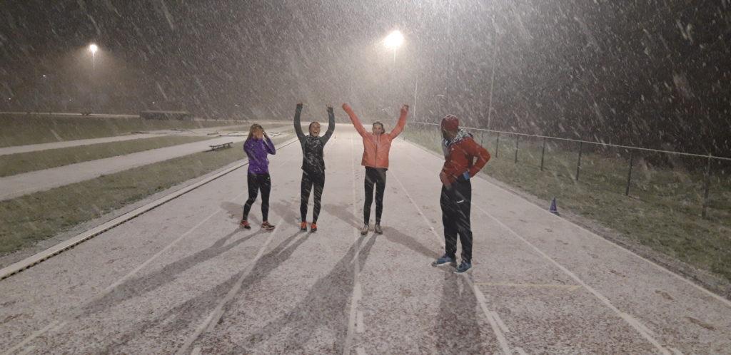 Toch weer sneeuw op de baan!
